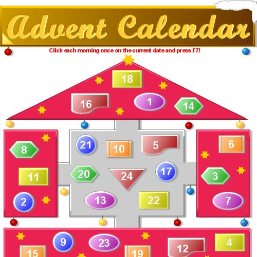 preview of Download this advent calendar for a jolly Xmas time ()