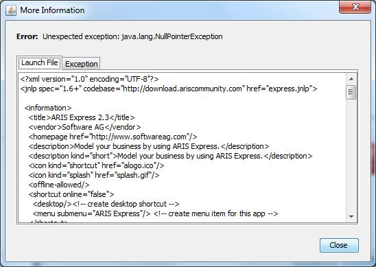 Application unavailable while offline error   ARIS BPM Community