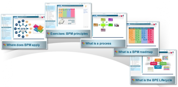 "Highlights in e-learning course ""What is BPM"""