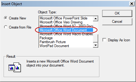 If text or table is inserted as ole object word in diagram it if text or table is inserted as ole object word in diagram it is displayed in corrupted way in generated report ex word ccuart Images