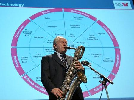 Professor Scheer a passionate jazz saxophonist