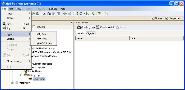 Features en detail: Microsoft Visio Import | ARIS BPM Community