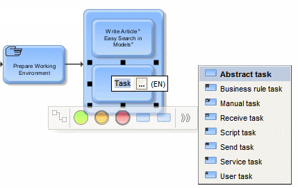 placing an embedded task in ARIS