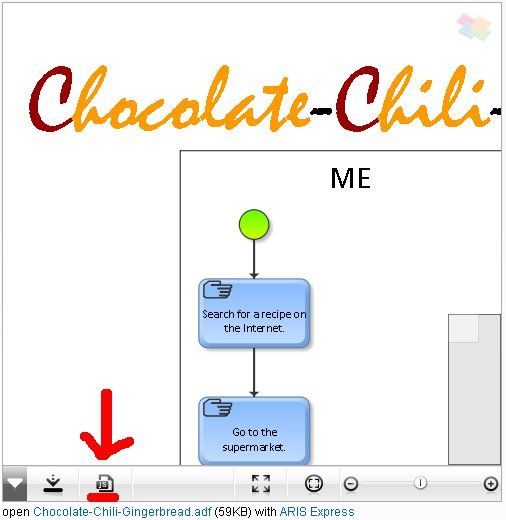 screenshot of interactive model viewer with button to embed model in external page highlighted