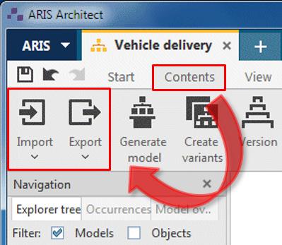 Importar archivos en ARIS 9.X