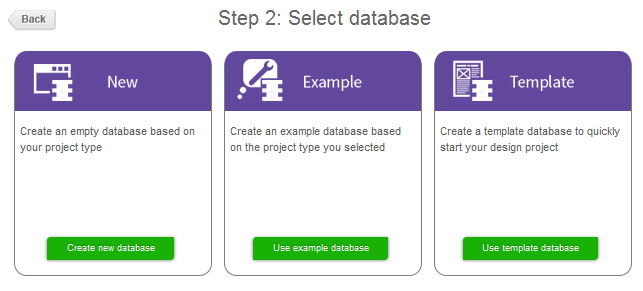 Databases of the Basic and Standard project type