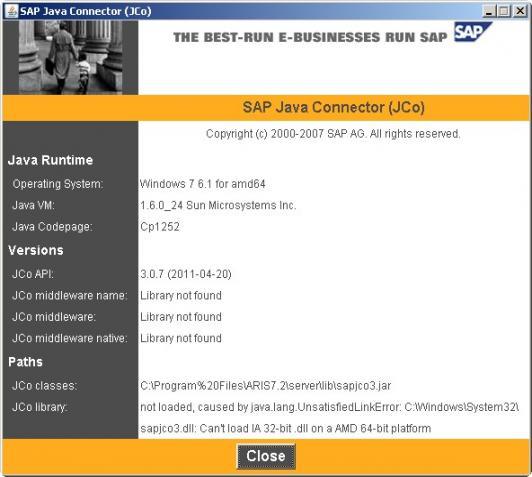 ARIS for SAP JCo FAQ | ARIS BPM Community