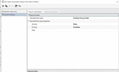 Edit report parameters