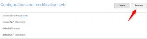 Configuration and modification sets