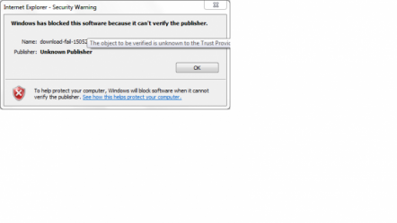 Windows has blockd this software becuase it can't verify the publisher