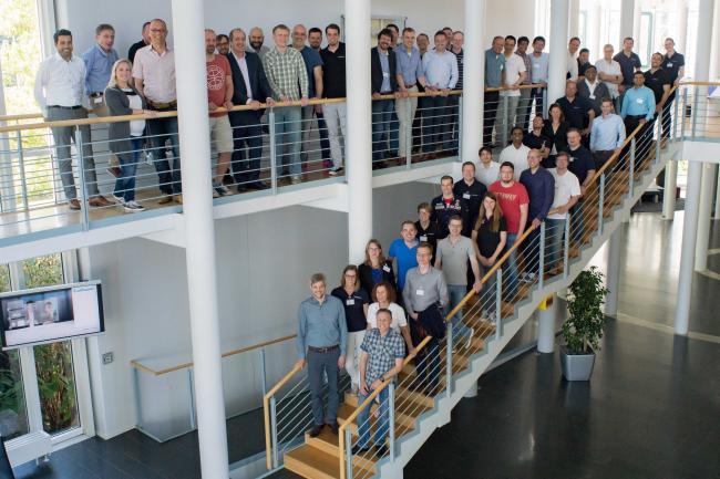 ARIS partners & Software AG experts in the lobby SAG Saarbruecken May 2017