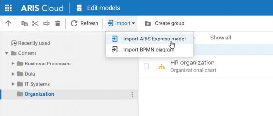 ARIS Express import
