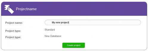 Enter a project name